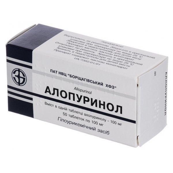 АЛЛОПУРИНОЛ тбл. 0.1г N50