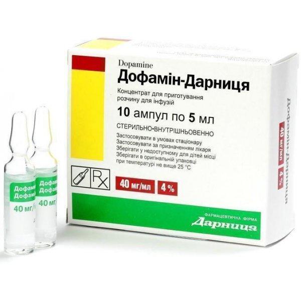 ДОФАМИН амп.4%  5мл N10