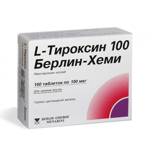 L-ТИРОКСИН тбл. 100мкг N50(Berlin)