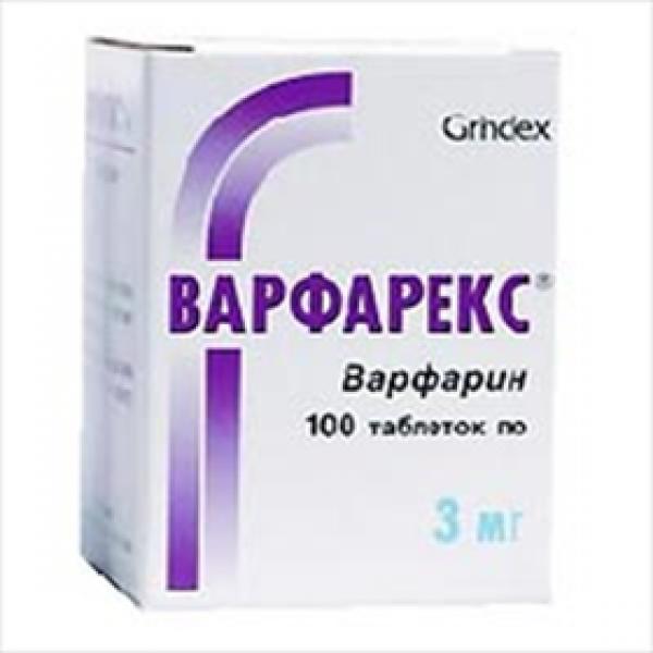 ВАРФАРЕКС табл. 3 мг N30