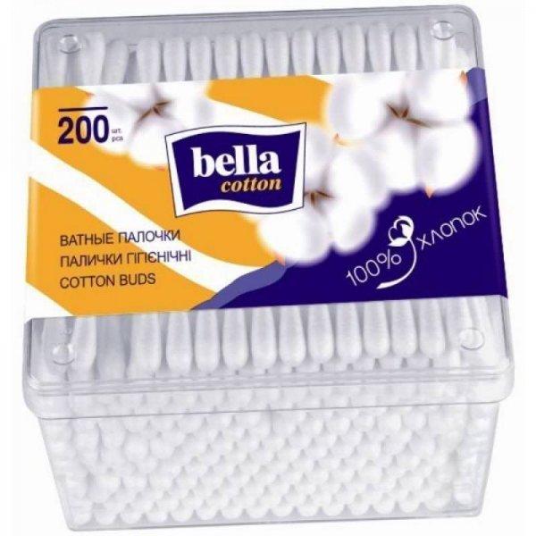 BELLA Cotton Ватные палочки N200 (пластик. упак.)