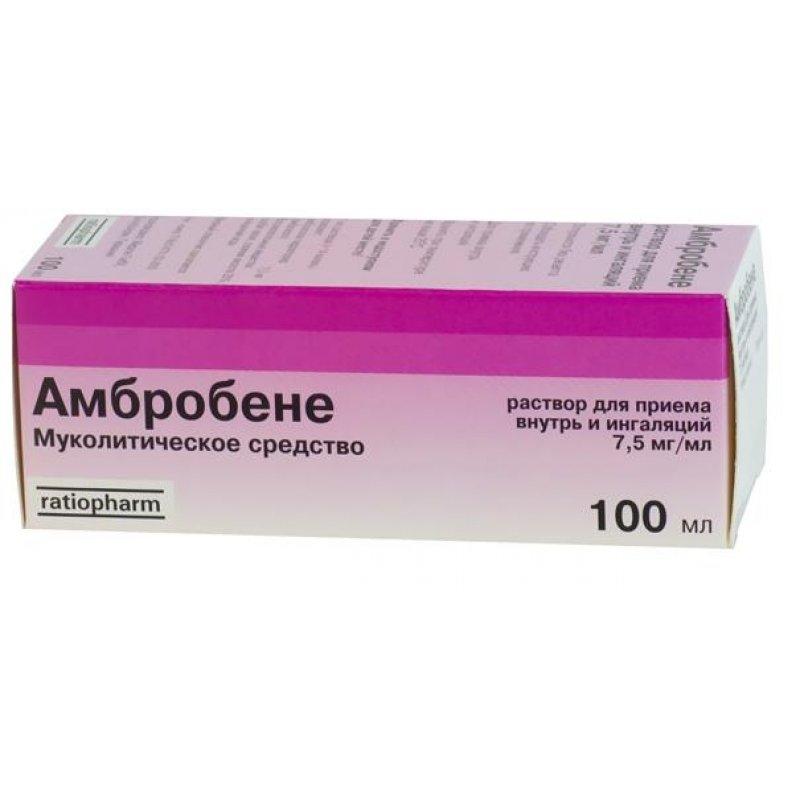 АМБРОБЕНЕ р-р 7,5мг/1мл  фл. 100мл
