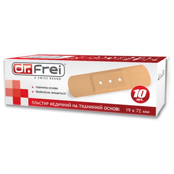 Dr. Frei Пластир медичний на тканинній основі 10 шт. 19 х 72 мм