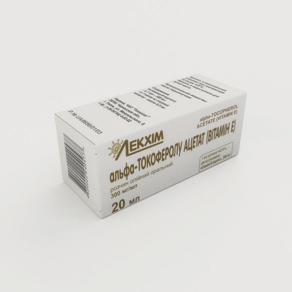 АЛЬФА-ТОКОФЕРОЛУ АЦЕТАТ (ВИТАМИН Е) фл. 30% 20мл