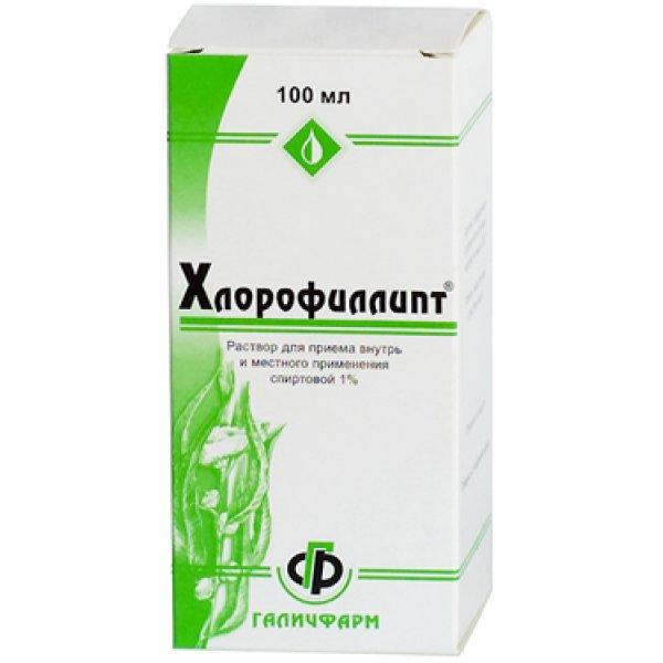 ХЛОРОФИЛИПТ спирт. фл. 1% 100мл