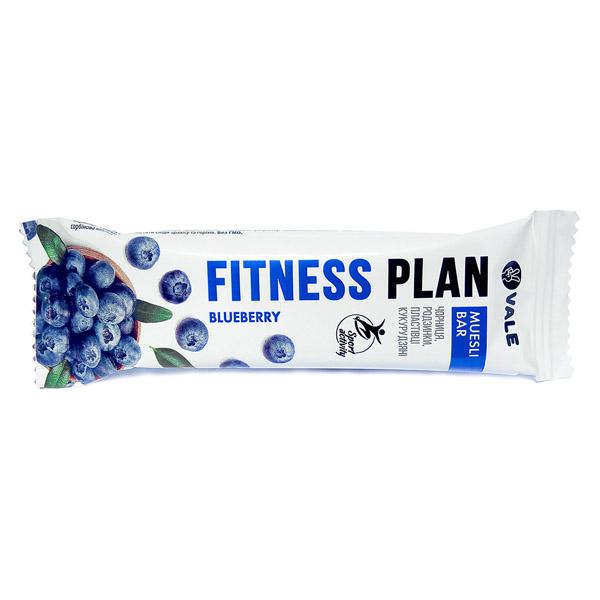 Fitness Plan батончик-мюсли с черницей частично глазированный