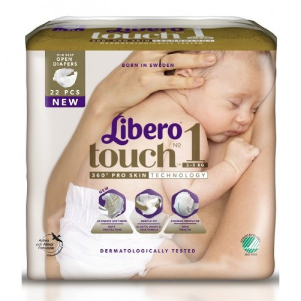 "LIBERO подгузн  Touch ""1"" (2-5 кг) 22шт"