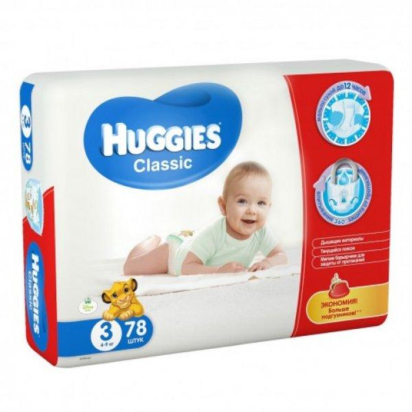 HUGGIES Classic 3мега 4-9кгN78