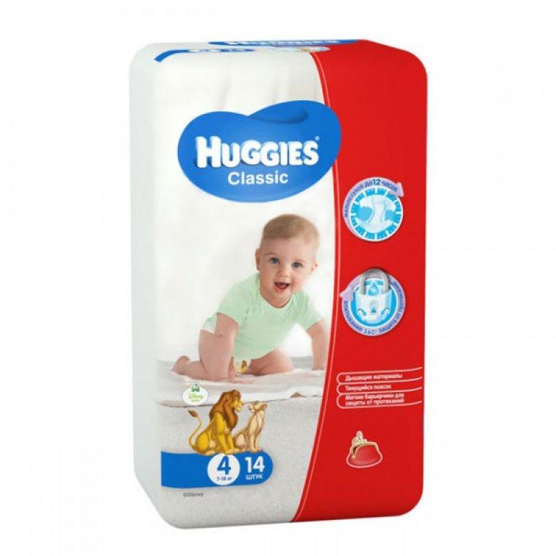 HUGGIES Classic 4 смол 7-18кг N15 (N14)