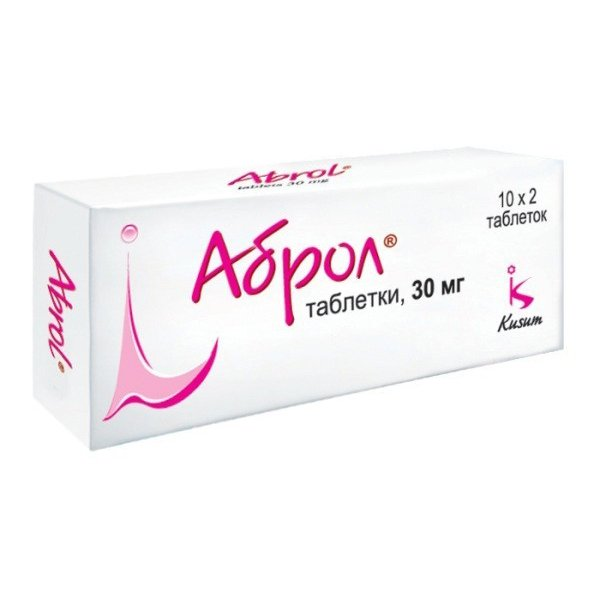 АБРОЛ табл 30 мг N20