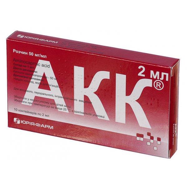АКК р-р 50 мг/мл контейнер однор.  2 мл N10