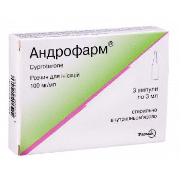 АНДРОФАРМ амп.  р/ин. 100 мг/мл  3 мл   N3