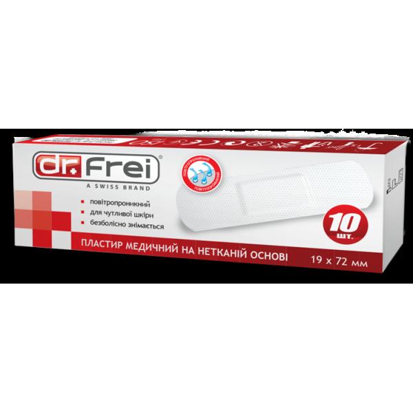 Dr. Frei Пластир медичний на нетканій основі 100 шт. 19 х 72 мм