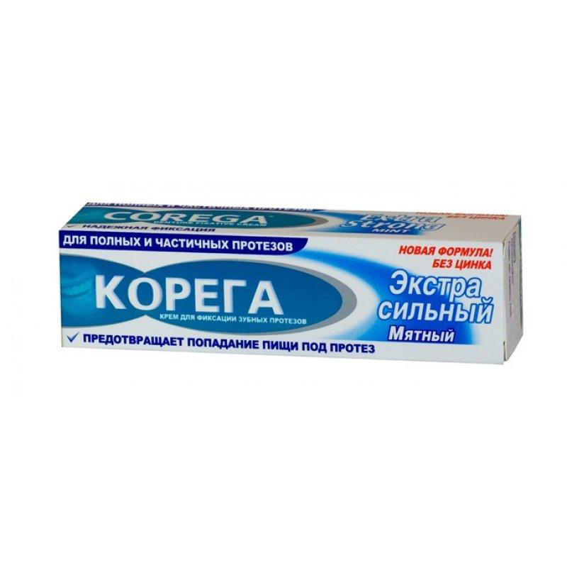 КОРЕГА Фиксирующий крем д/зубных протезов экстра сильной фиксации  70г