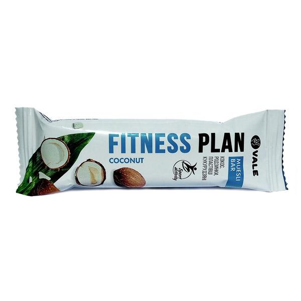 Fitness Plan батончик-мюсли с кокосом частично глазированный