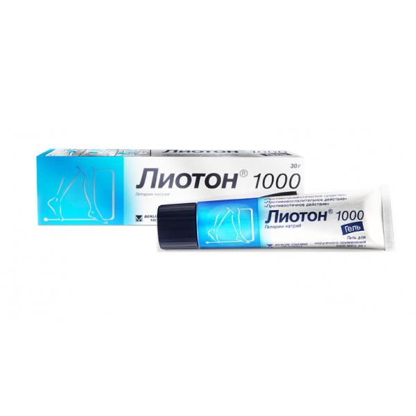 ЛИОТОН 1000 гель туба 30г