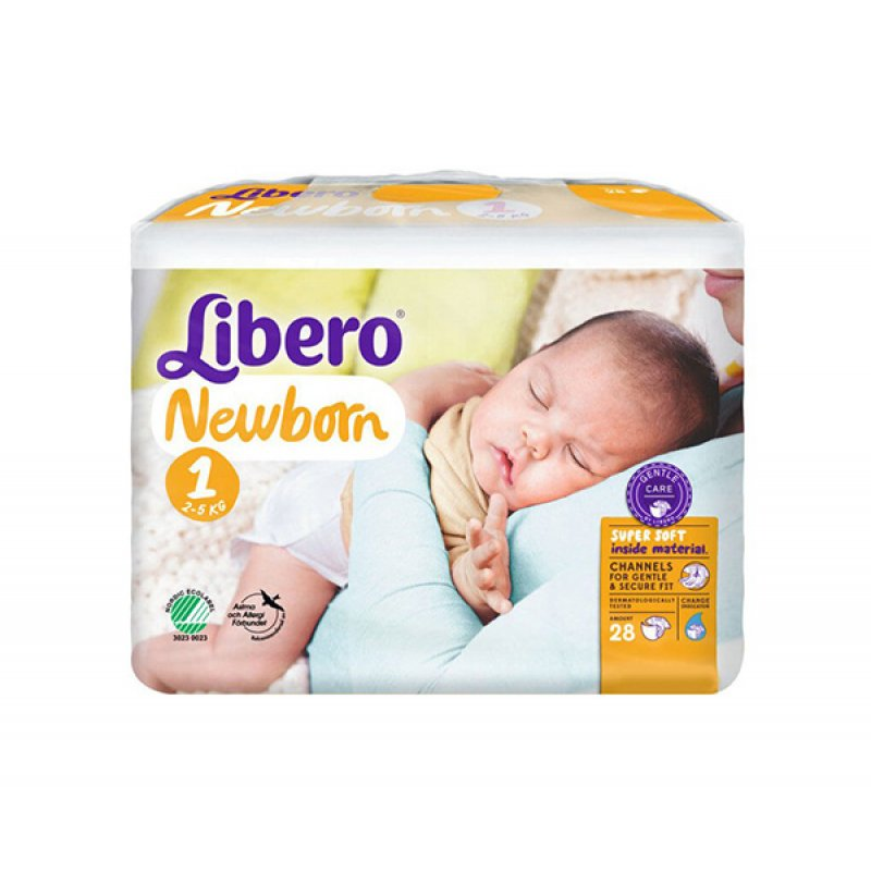 LIBERO подгузники Baby Soft 1 Newborn (2-5кг) 28шт