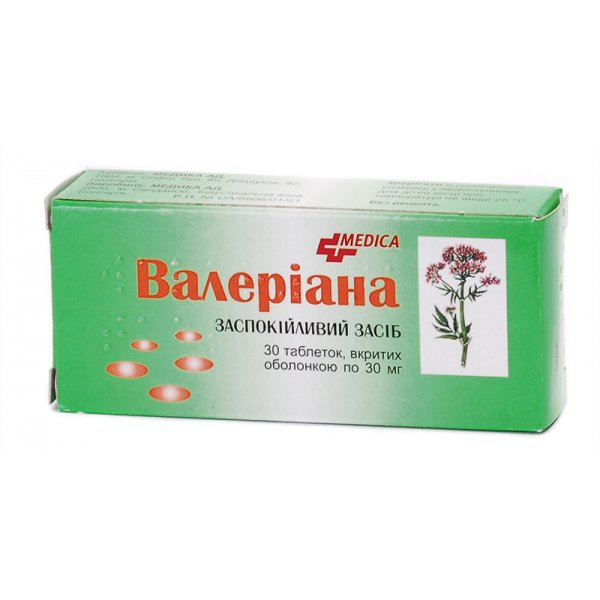 ВАЛЕРИАНА  тбл. 30 мг  N30