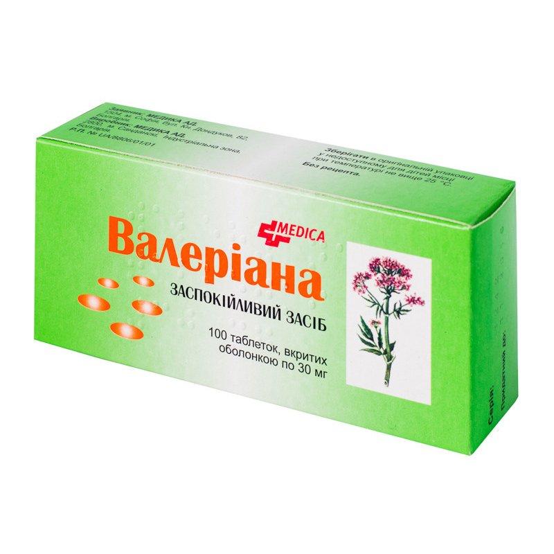 ВАЛЕРИАНА  тбл. 30 мг  N100