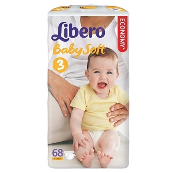LIBERO подгузн  Comfort 3 (4-9 кг) 62шт