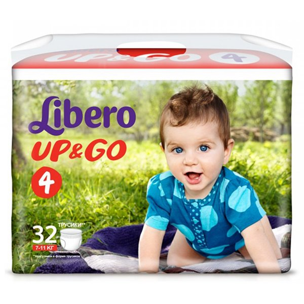 "LIBERO трусики Up&Go ""4"" (7-11 кг) 32шт"