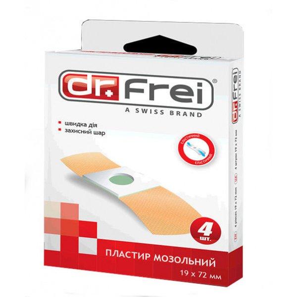 Dr. Frei Пластир мозольний 4 шт 19х72 мм