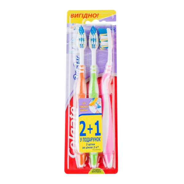 COLGATE  Зубная щетка Zig zag Plus 2+1 (средняя)