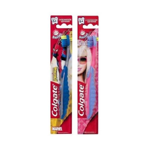 COLGATE  Барби/Человек паук Детская Зубная щетка 5+ лет