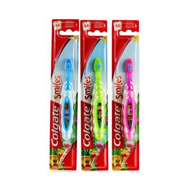 COLGATE Smiles зубная щетка для детей 0-2 года (мягкая)