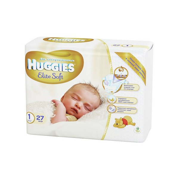 HUGGIES Elite Soft (1) 2-5кг N26