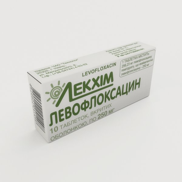 ЛЕВОФЛОКСАЦИН  таб.п/о 250мг N10