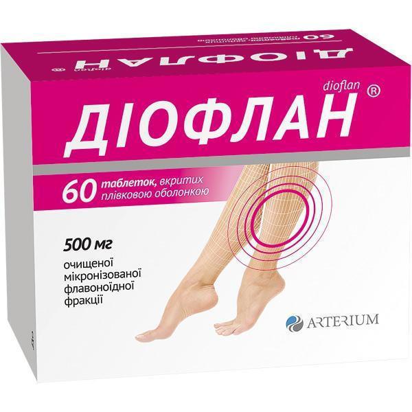 ДИОФЛАН тбл. N60  (Детралекс)
