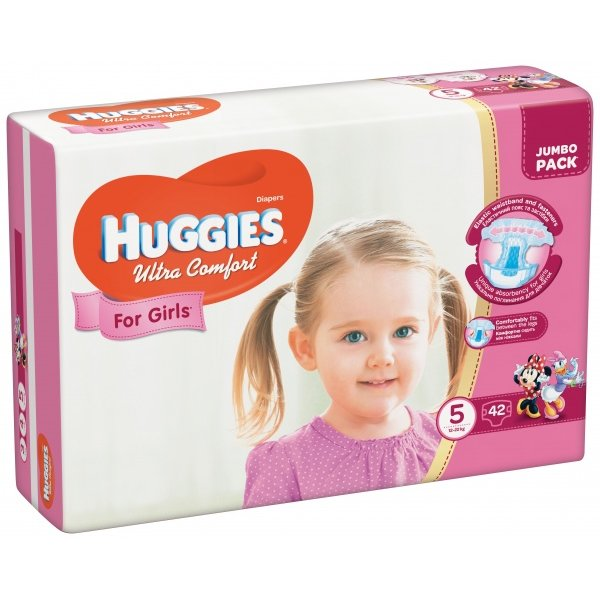 HUGGIES Ультра Комфорт (5)  42*3 GIRL
