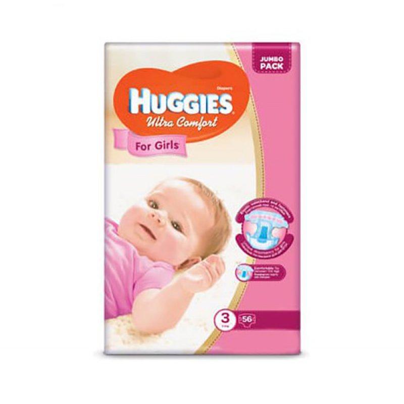 HUGGIES Ультра Комфорт (3)  56*3 GIRL