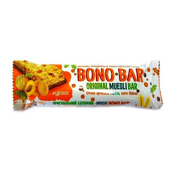 Bono-Bar батончик-мюсли с курагой частично глазированный (оранжевый)