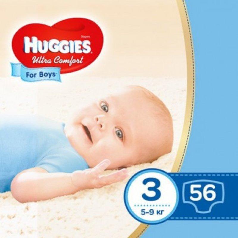 HUGGIES Ультра Комфорт (3)  56*3 BOY