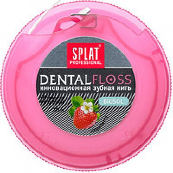 SPLAT Зубна нитка об ємна з ароматом ПОЛУНИЦІ 30м