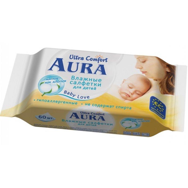 AURA Baby влажные салфетки 60шт