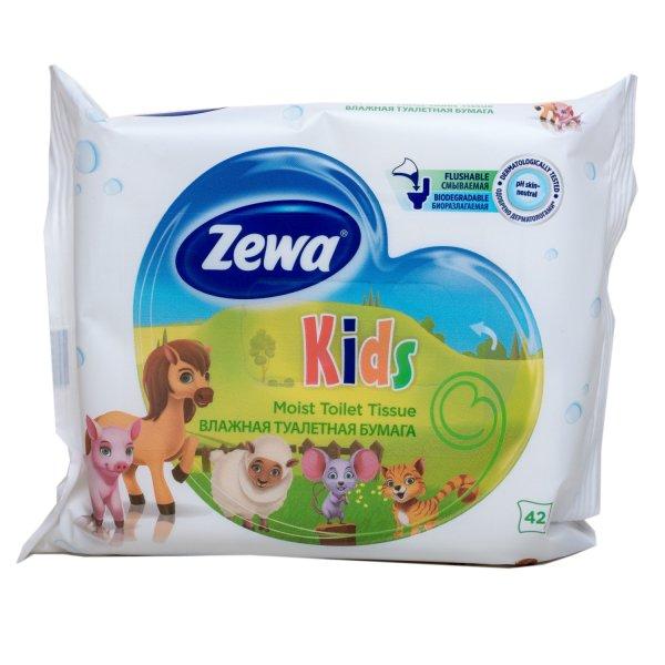 Влажная Туалетная бумага Zewa  Kids moist 42