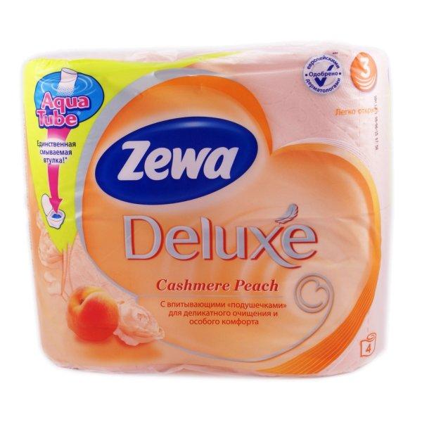 Туалетная бумага Zewa Deluxe (персик) 4rolls