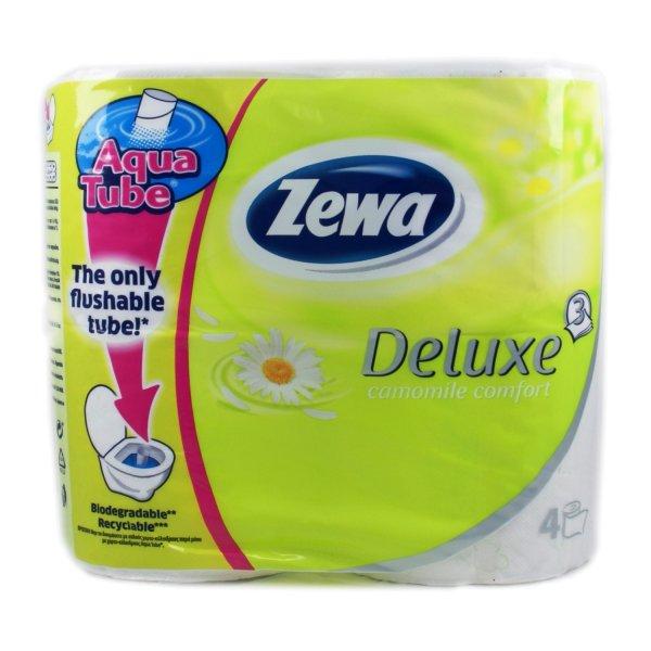 Туалетная бумага Zewa Deluxe (ромашка) 4rolls