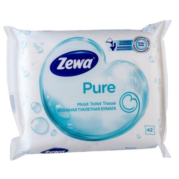 Влажная Туалетная бумага Zewa Pure moist 42 без аромата