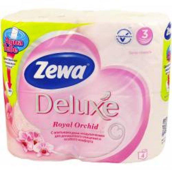 Туалетная бумага Zewa Deluxe (орхидея) 4rolls