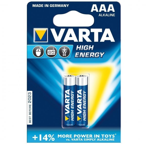 Батарейка VARTA HIGH Energy AAA BLI 2