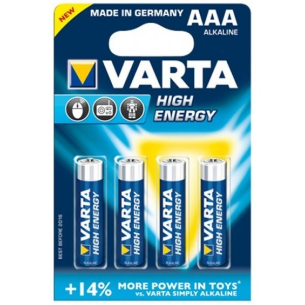 Батарейка VARTA HIGH Energy AAA BLI 4