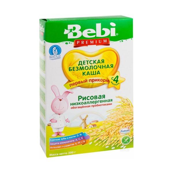 БЕБИ ПРЕМИУМ Каша рисовая низкоаллергенная с пребиот. 200гр