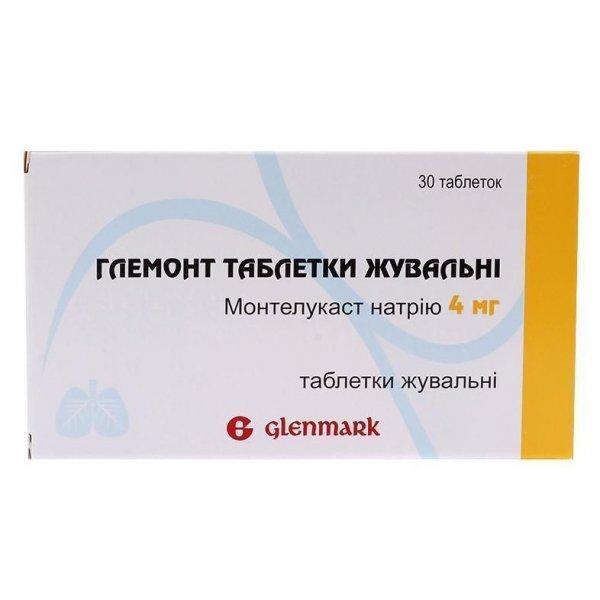 ГЛЕМОНТ табл.жев. по 4 мг №30
