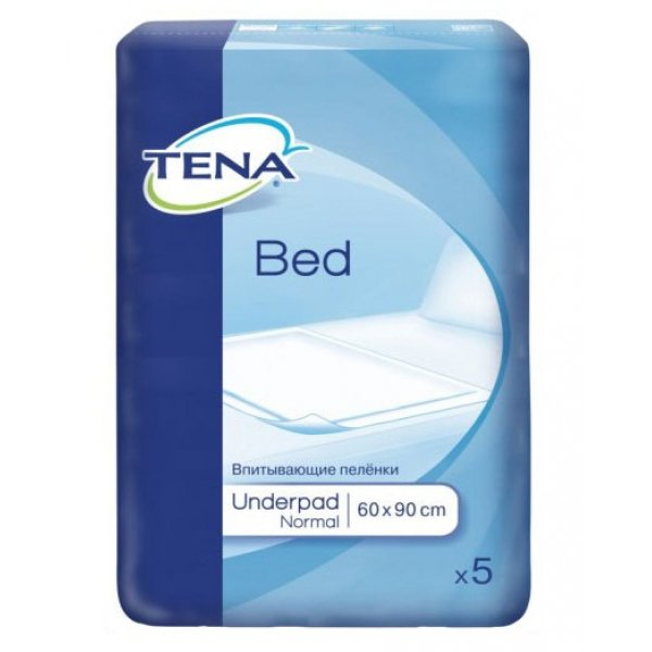 TENA BED Normal  Пеленки 60*90 N 5 +Sticker