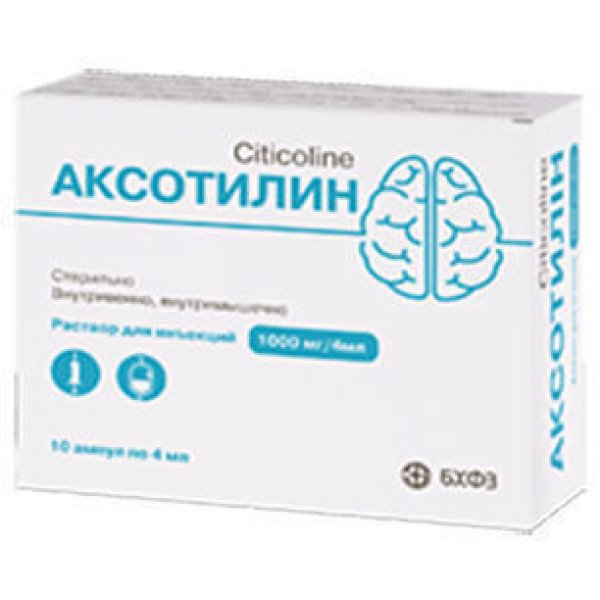 АКСОТИЛИН р-рд/ин., 1000 мг/4 мл 4 мл  амп. №10