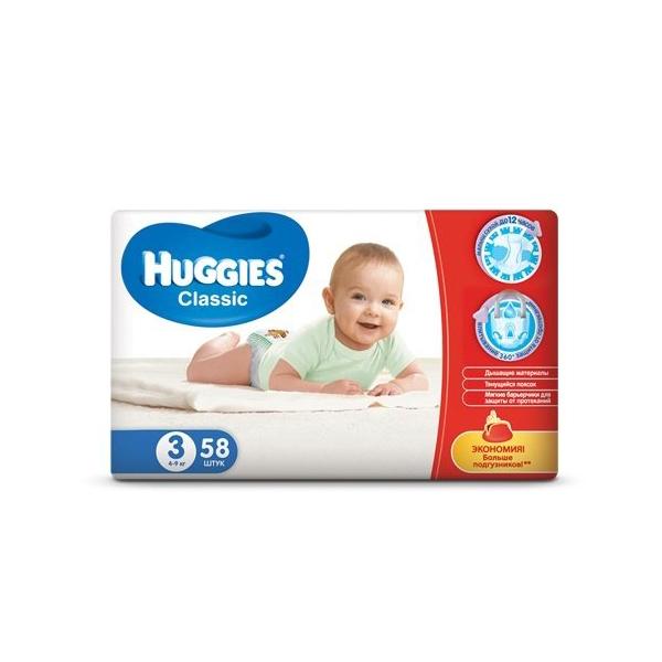 HUGGIES Classic 3миди 4-9кгN58